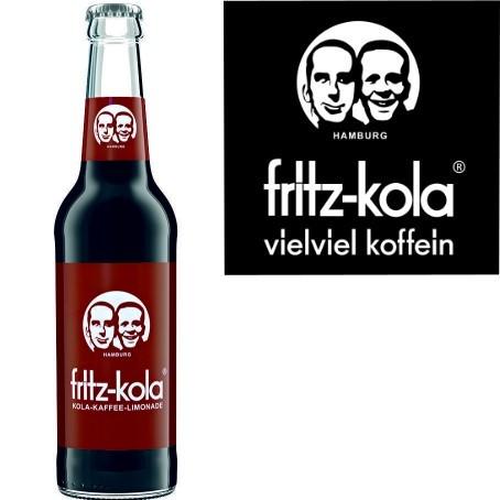 fritz -kola Kola-Kaffee-Limonade (24/0,33 Ltr. Glas)