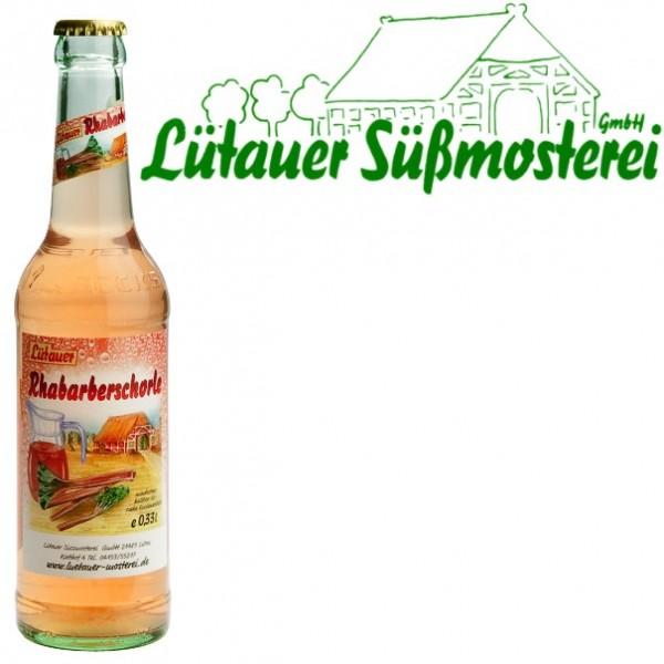 Lütauer Rhabarberschorle (24/0,33 Ltr. Glas)
