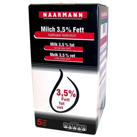 Naarmann H-Milch 3.5% Fett 5l Bag in Box