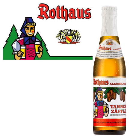 Rothaus Zäpfle Alkoholfrei (24/0,33 Ltr. Glas MEHRWEG)