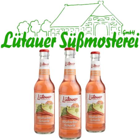 Lütauer Rhabarberschorle (24/0,33 Ltr. Glas MEHRWEG)