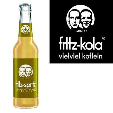 fritz -spritz Apfelsaftschorle (24/0,33 Ltr. Glas)