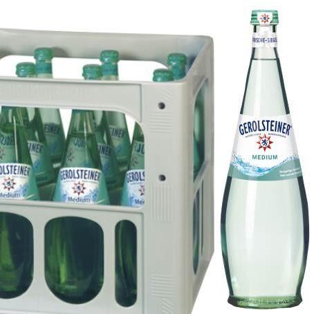 Gerolsteiner medium Gourmet (12/0,75 Ltr. Glas MEHRWEG)