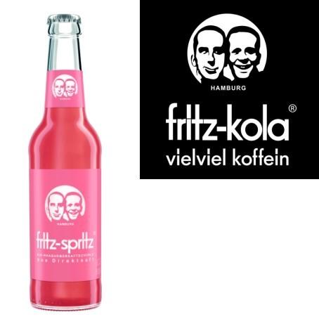 fritz -spritz Rhabarberschorle (24/0,33 Ltr. Glas MEHRWEG)