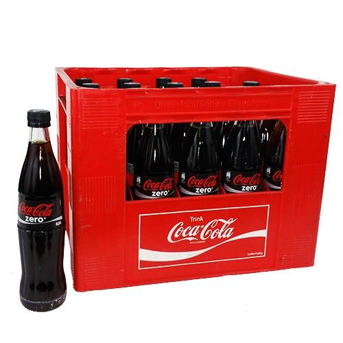 Coca Cola Zero (20/0,5 Ltr. Glas)