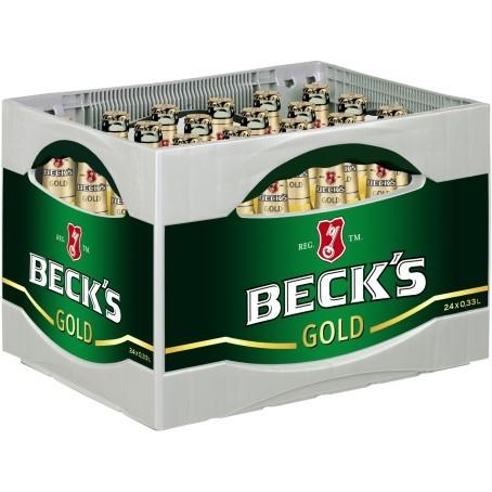 Becks Bier Gold 24/0,33 Ltr. Glas | Direct Getränke Lieferservice ...