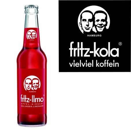 fritz -limo Apfel Kirsch Hollunder (24/0,33 Ltr. Glas MEHRWEG)