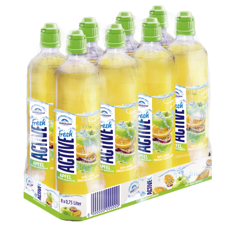Adelholzener Active Fresh Apfel Orange Maracuja (8/0,75 Ltr. PET EINWEG)